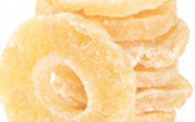 Rondelles d'ananas déshydratées