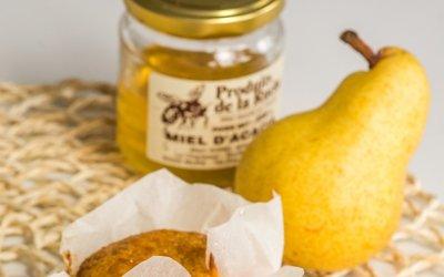 Mini-cakes aux poires et au miel