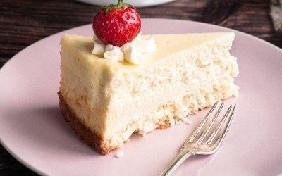 Cheesecake fraises – noix de coco