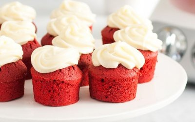 Cupcakes rouge velour