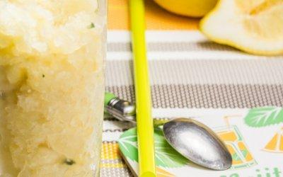 Granité citron-menthe