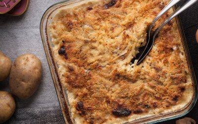 Gratin de pommes de terre aux anchois