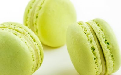 Macarons citron vert basilic