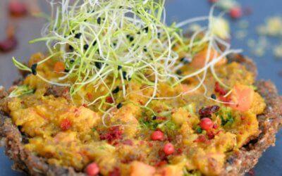Tarte crue aux petits légumes d'Hiver